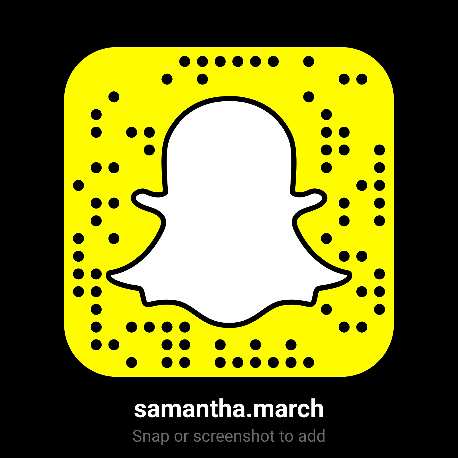 samantha.march on Snapchat